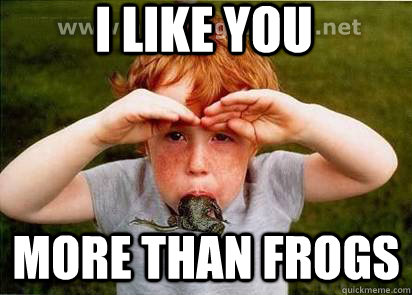 f1d8088ddaf683e0df9d9560b98c6614181fdac6203d99945af9adeae3e42952 i like you more than frogs more than frogs quickmeme,More Than That Meme
