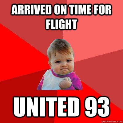 arrived on time for flight united 93
