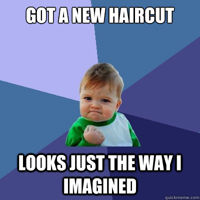 Got a New Haircut looks just the way i imagined - Got a New Haircut looks just the way i imagined  Success Kid