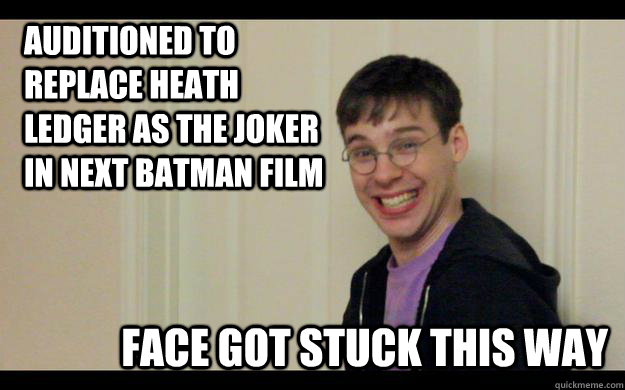 auditioned to replace heath ledger as the joker in next batman film