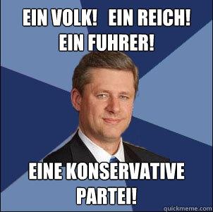 Ein Volk!   Ein Reich! Ein Fuhrer! Eine Konservative Partei!