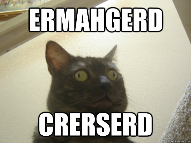 ERMAHGERD CRERSERD - Derp Cat - quickmeme