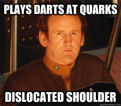 Plays darts at Quarks dislocated shoulder - Plays darts at Quarks dislocated shoulder  Bad Luck OBrien