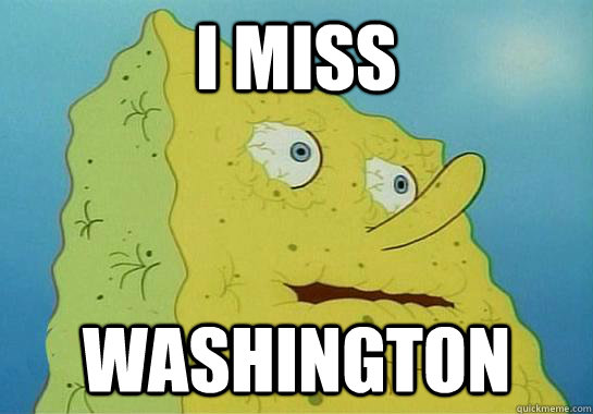 I miss Washington - I miss Washington  Spongebob water