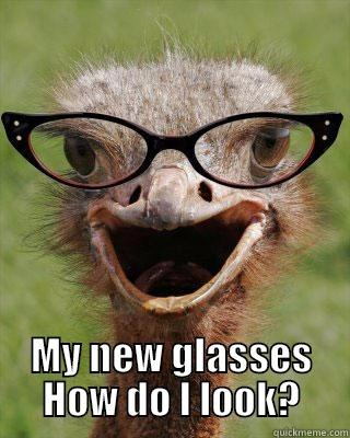 Eye see you!! -   MY NEW GLASSES HOW DO I LOOK? Judgmental Bookseller Ostrich