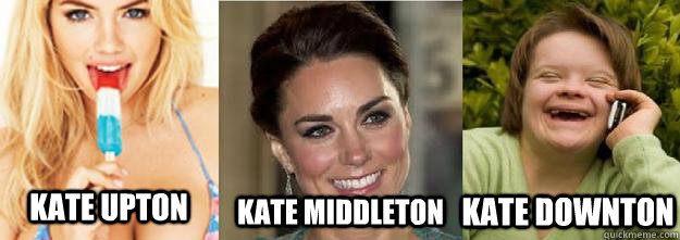 Kate Upton Kate Middleton Kate Downton  Kate