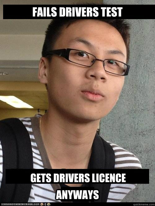 Fails drivers test gets drivers licence  anyways