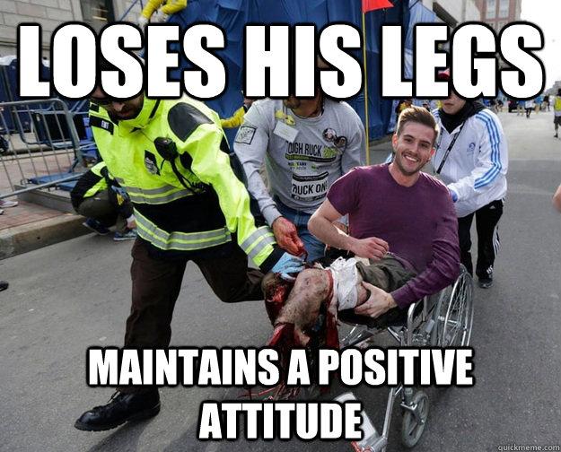 Loses his Legs Maintains a positive attitude - Loses his Legs Maintains a positive attitude  Misc