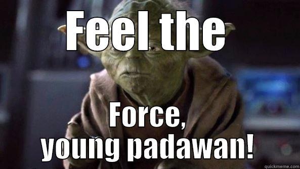 FEEL THE FORCE, YOUNG PADAWAN! True dat, Yoda.