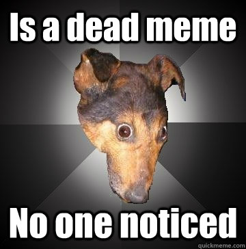 Is a dead meme No one noticed  Depression Dog