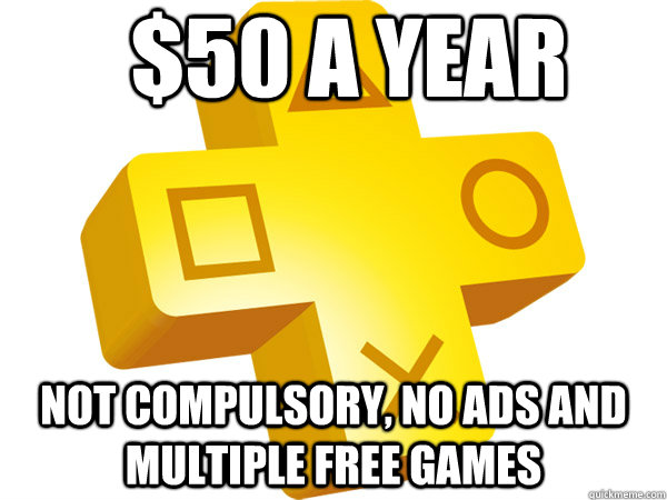 $50 a year not compulsory, no ads and multiple free games - $50 a year not compulsory, no ads and multiple free games  Misc