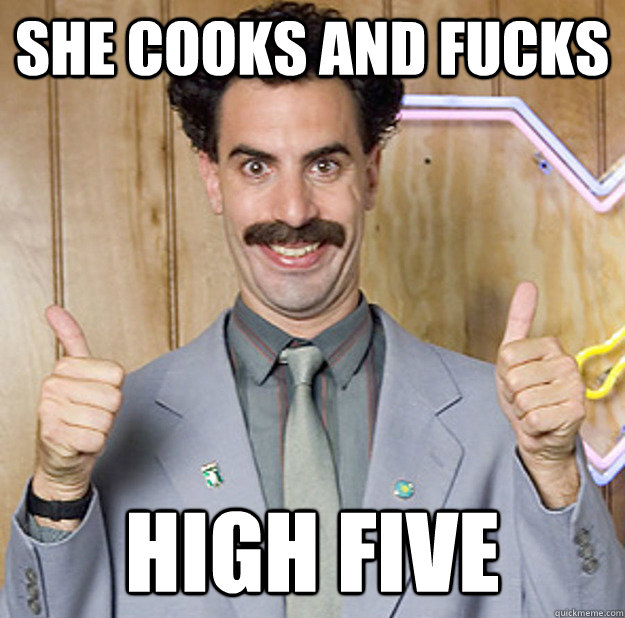 she cooks and fucks HIGH FIVE