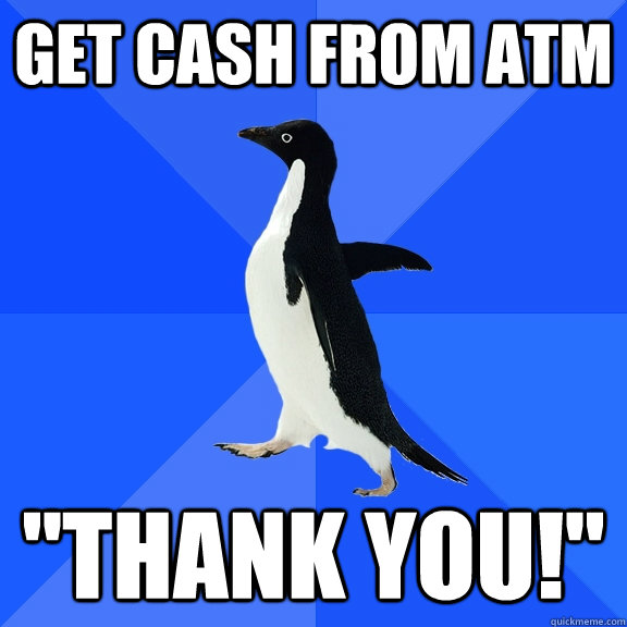 Get cash from atm