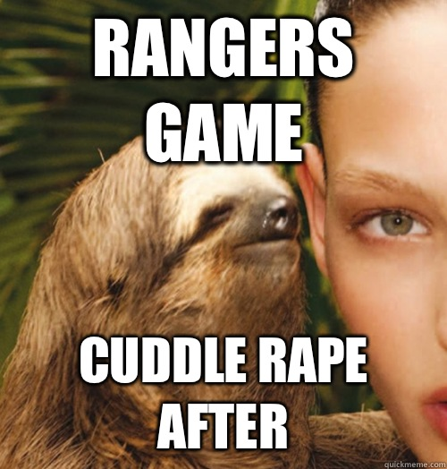 Rangers game Cuddle rape after - Rangers game Cuddle rape after  Whispering Sloth
