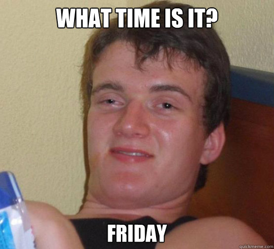 WHAT TIME IS IT? FRIDAY - WHAT TIME IS IT? FRIDAY  Stoner Stanley