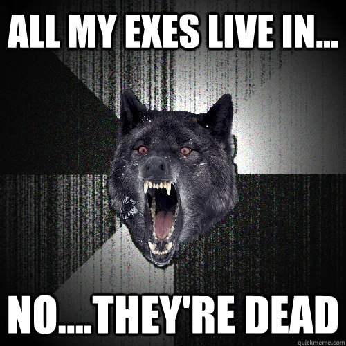 ALL MY EXES LIVE IN... NO....THEY'RE DEAD - ALL MY EXES LIVE IN... NO....THEY'RE DEAD  Insanity Wolf