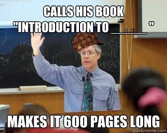 Calls his book