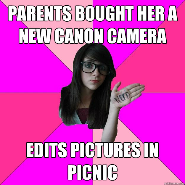 Parents bought her a new canon camera Edits pictures in Picnic - Parents bought her a new canon camera Edits pictures in Picnic  Idiot Nerd Girl
