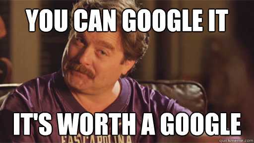 you can google it it's worth a google - you can google it it's worth a google  zach galifianakis