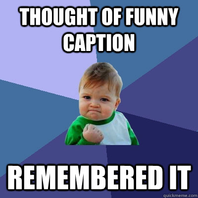 thought of funny caption remembered it - thought of funny caption remembered it  Success Kid