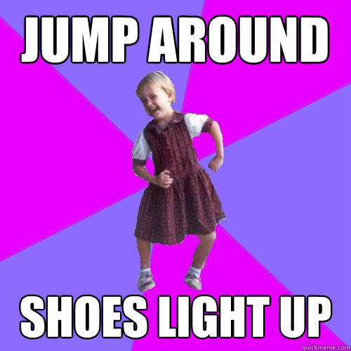 jump around shoes light up  Socially awesome kindergartener