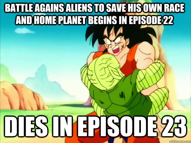 battle agains aliens to save his own race and home planet begins in episode 22 dies in episode 23