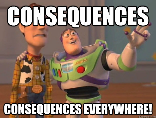 Consequences Consequences everywhere! - Consequences Consequences everywhere!  Buzz Lightyear