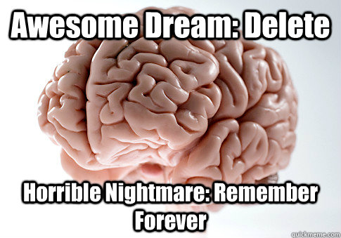 Awesome Dream: Delete Horrible Nightmare: Remember Forever - Awesome Dream: Delete Horrible Nightmare: Remember Forever  Scumbag Brain