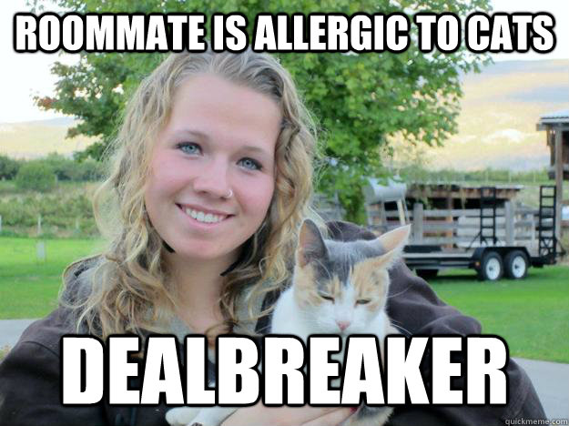 roommate is allergic to cats dealbreaker