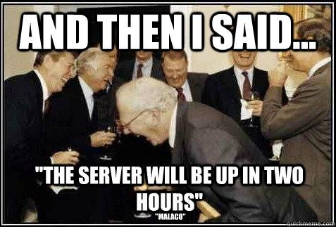 and then i said...