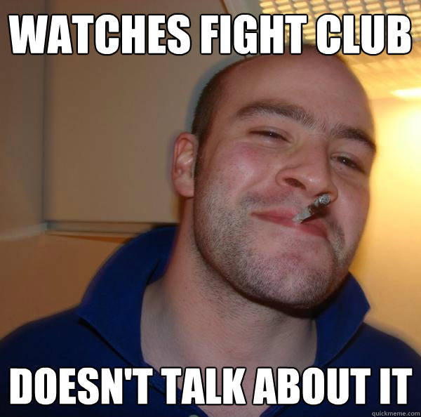 WATCHES FIGHT CLUB  DOESN'T TALK ABOUT IT  - WATCHES FIGHT CLUB  DOESN'T TALK ABOUT IT   Misc