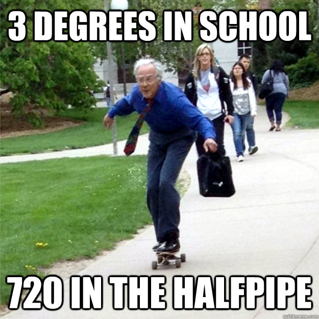 3 degrees in school 720 in the halfpipe - 3 degrees in school 720 in the halfpipe  Skating Prof