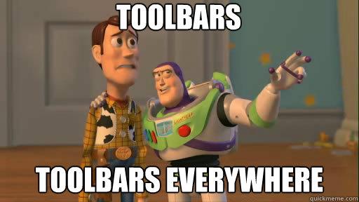 TOOLBARS Toolbars everywhere
