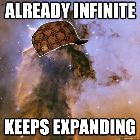 already infinite keeps expanding