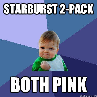 starburst 2-pack both pink - starburst 2-pack both pink  Success Kid