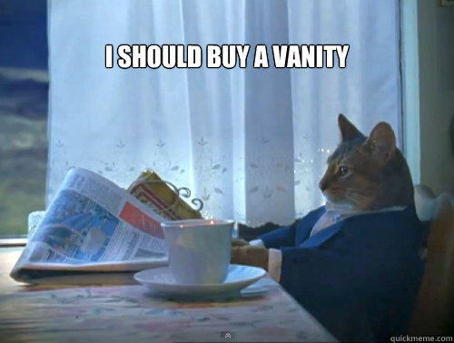 I should buy a vanity -  I should buy a vanity  The One Percent Cat