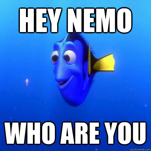 Hey Nemo Who are you - Hey Nemo Who are you  dory