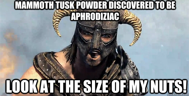 Mammoth Skyrim Tusk Mammoth Tusk Powder Discovered