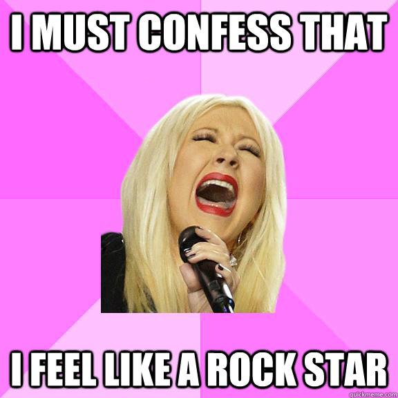 Lyrics to feel like a rockstar