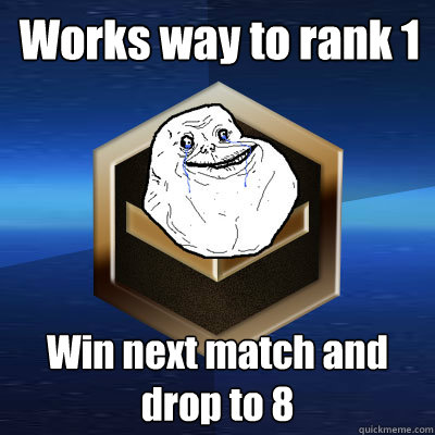Works way to rank 1  Win next match and drop to 8