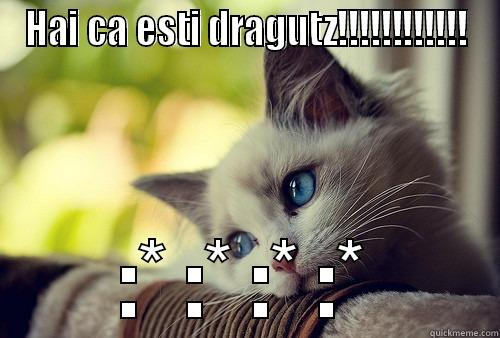 HAI CA ESTI DRAGUTZ!!!!!!!!!!!! :* :* :* :* First World Problems Cat