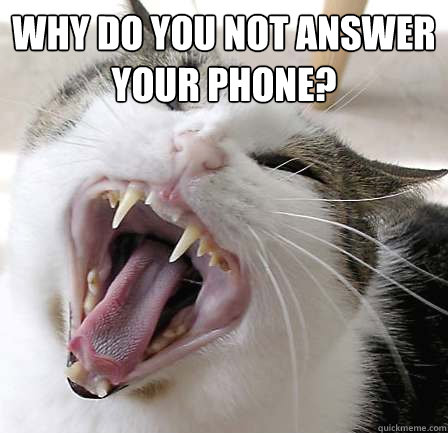 Why do you not answer your phone?