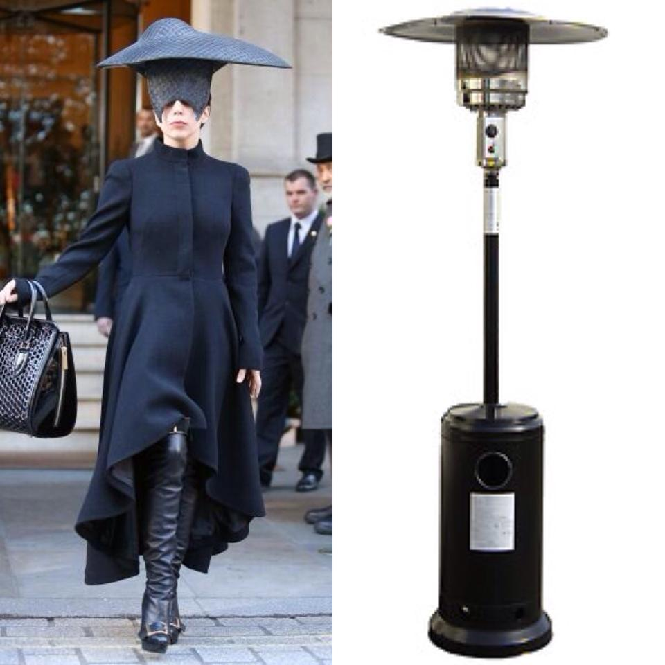Who wore it better? Gaga vs Outdoor Heater. -   Misc