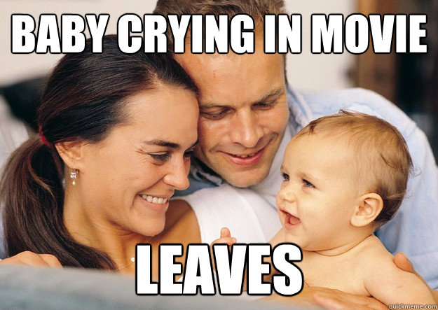 Baby crying in movie Leaves