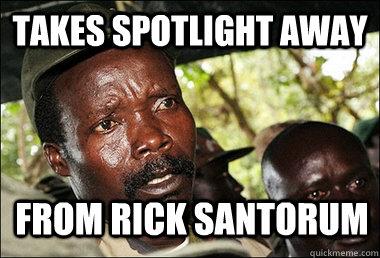takes spotlight away  from Rick santorum