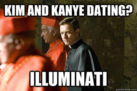 Kim and Kanye Dating? Illuminati  Illuminati