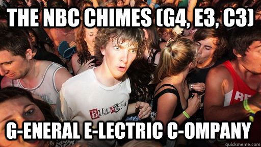 The NBC CHIMES (G4, E3, C3) G-eneral E-lectric C-ompany - The NBC CHIMES (G4, E3, C3) G-eneral E-lectric C-ompany  Sudden Clarity Clarence