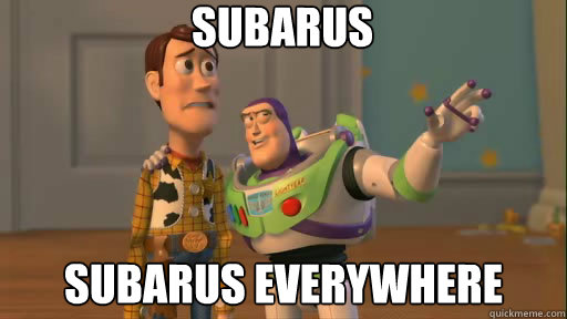 Subarus subarus everywhere - Subarus subarus everywhere  Everywhere