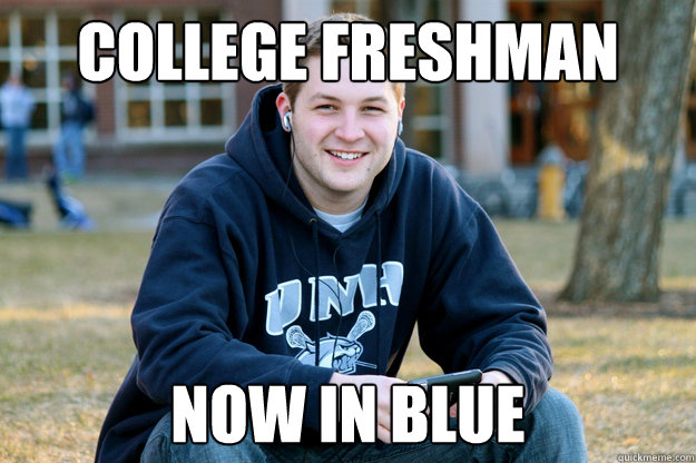 College Freshman Now in Blue