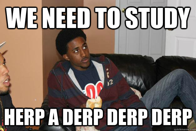 we need to study Herp a derp derp derp  Tyrone